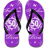 CafePress - 50Th Birthday Fabulous - Flip Flops, Funny Thong Sandals, Beach Sandals