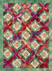 Amazon Com Trellis Garden Quilt Pattern By Joen Wolfrom