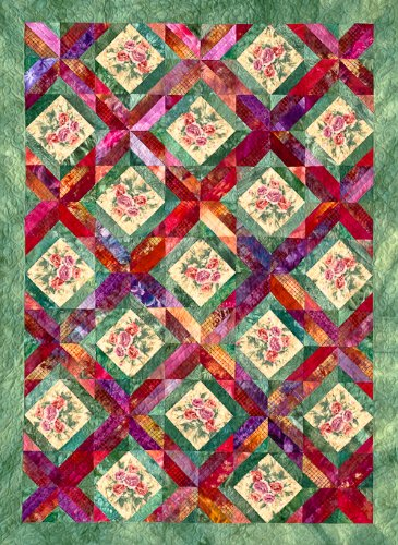 Amazon Trellis Garden Quilt Pattern By Joen Wolfrom