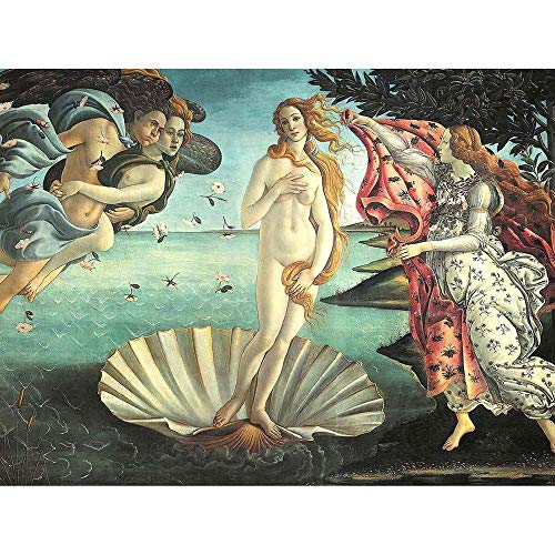 - Wee Blue Coo Painting Sea Shell Goddess Birth Venus Botticelli Unframed Wall Art Print Poster Home Decor Premium