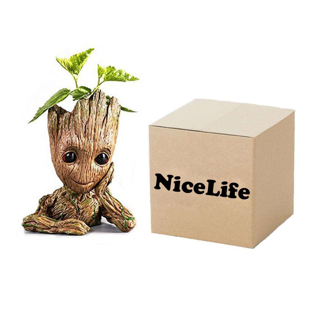 Creative Groot Planter Pot Baby Groot Flowerpot Cute Model Pen Container Guardians Action Figures Toy Gift For Kids by NiceLife