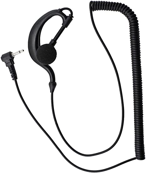 1x 3.5mm Listen Only G Shape Earpiece Headset For Motorola Radio Speaker Mic UE