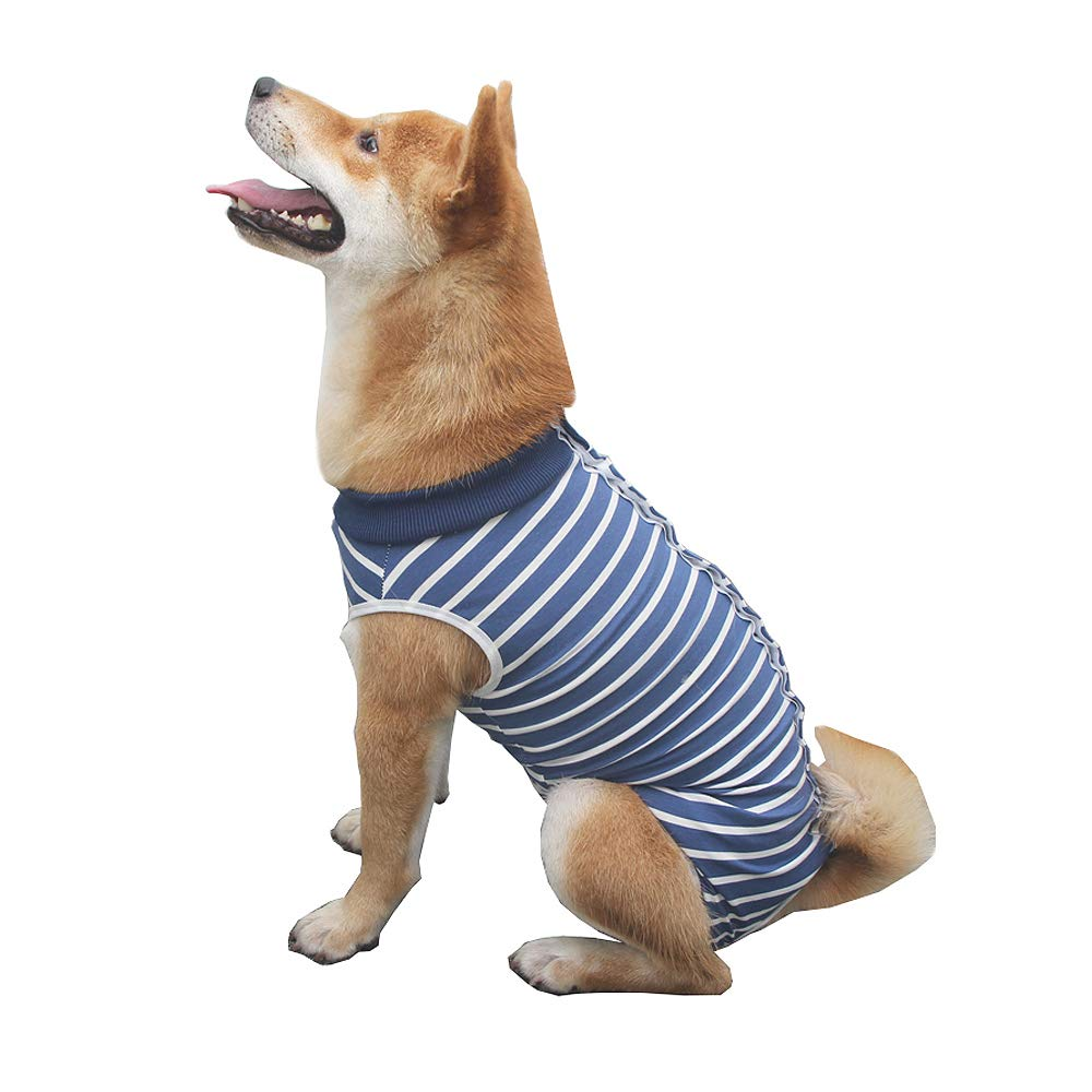 Dog Surgery Recovery Suit Medical Surgical Shirt Post-Operative Vest Abdominal Wound Protector After Surgery Clothes for Dogs and Cats (S) by kathson
