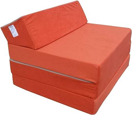 Natalia Spzoo Colchón Plegable Cama de Invitados colchón de Espuma 200x70 cm FM (Naranja)