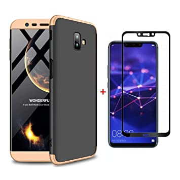 pretty nice d641d 1fbb0 Ttimao Samsung Galaxy J6 Plus Case PC Hard Case [Tempered Glass Screen  Protector] Anti Scratch Shockproof Ultra-thin 360 ° Protective Cover ...