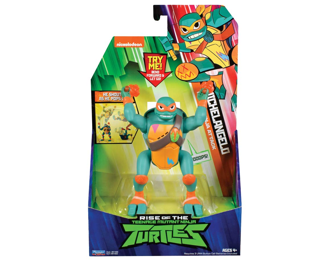 Teenage Mutant Ninja Turtles The Rise of The Deluxe Ninja Attack Action Figures - Michelangelo Popup Attack