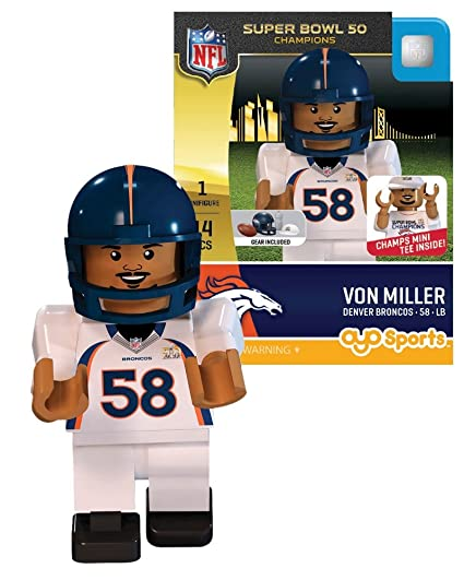 release date: 8b382 6bc2a OYO NFL Denver Broncos Super Bowl 50 Champions Von Miller Minifigure,  Small, Black
