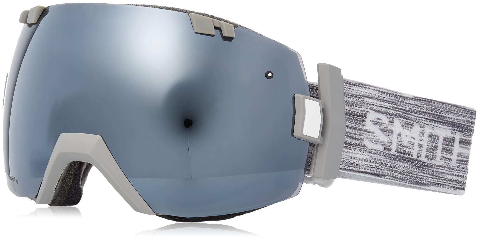 Smith Optics Unisex I/OX Cloud Grey/Chromapop Sun Platinum Mirror/Chromapop Storm Yellow One Size