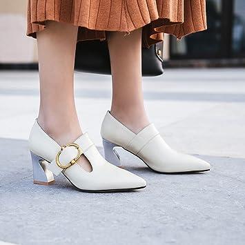 Cuero Herradura Y De Hebilla Primavera Con Verano Zapatos 13uFcTlKJ