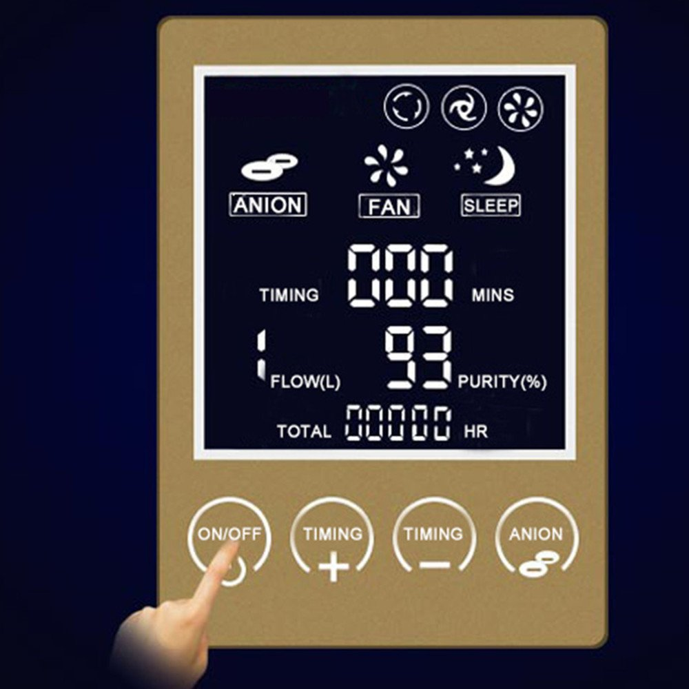 Zorvo Portable Oxygen Concentrator Generators Household Oxygen Machine Home Oxygen Concentrator Generator Air Purifier Home Air Purifier 1-6L/min Flow AC 110V by Zorvo (Image #5)