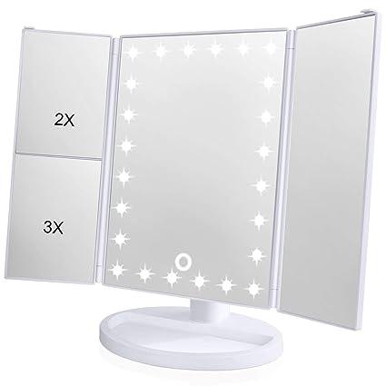 amazon com wondruz makeup mirror001 trifold mirror white 2018