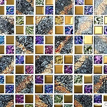 GOWE Colorful mosaic tv wall stickers tile crystal mosaic
