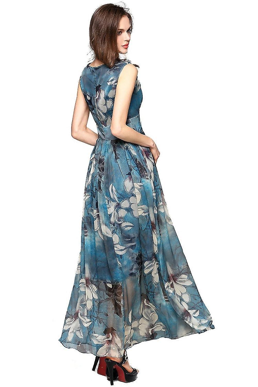 Amazon.com: Joy EnvyLand Women V-neck Flower Prom Party Tunic Long ...