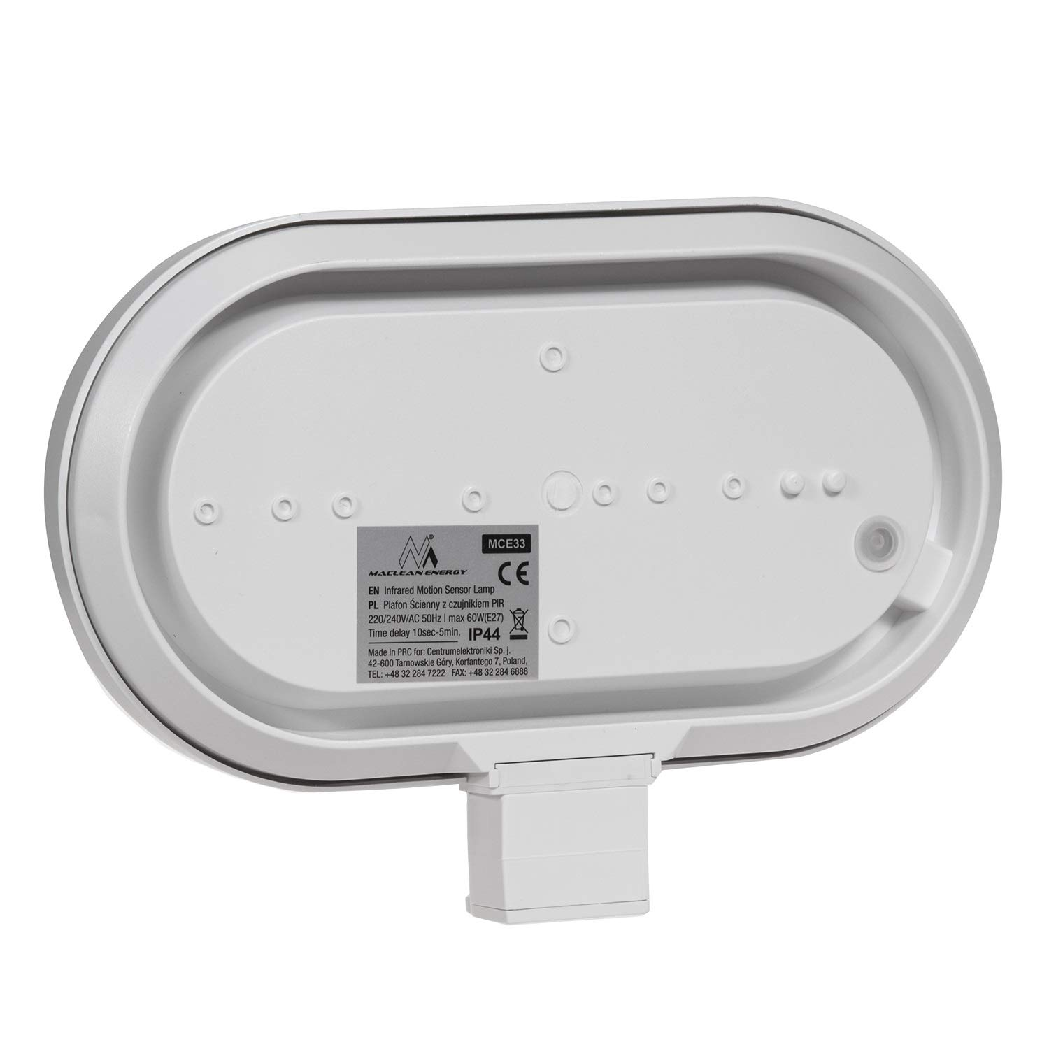 Maclean - Energy mce33 - Aplique de Pared con Detector de Movimiento 180° Sensor de luz: Amazon.es: Hogar