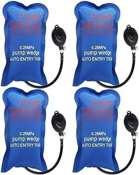 WANYIG 4 PiezasAir Wedge Pump Wedge Cuña del Aire Hinchable Barra de Palanca Universal Shim Inflable (Rectángulo Pequeño)