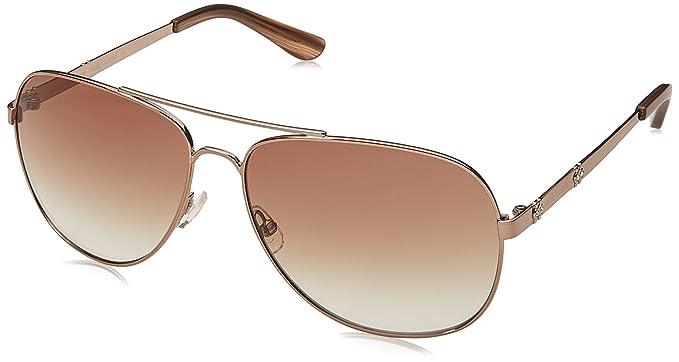 56f7f7e27249 Amazon.com: Juicy Couture Women's Ju 589/s Aviator Sunglasses, Brown ...