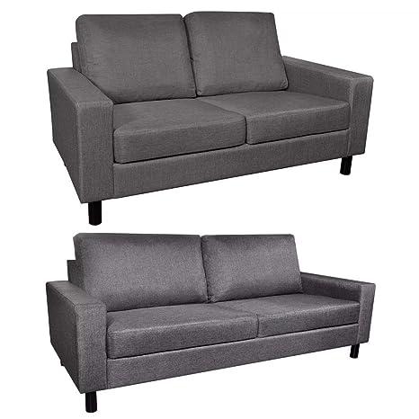Tidyard- Conjunto de sofás Adecuado para 5 Personas Tela ...