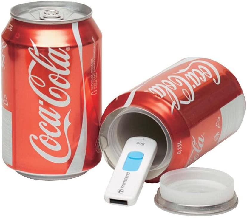 Bote de camuflaje / Lata de ocultación imitación refresco (Coca Cola)