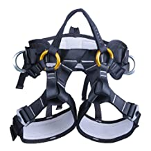 kissloves Full Body Safety Harness Outdoor Climbing Harness Half Body Harness Safe Seat Belt for Mountaineering Outward Band Expanding Training Rock Climbing Rappelling Equip
