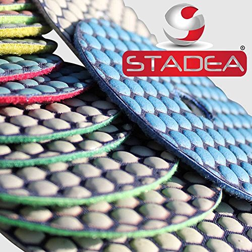 stadea 4'' concrete polishing pads set - 5 diamond pads kit by STADEA