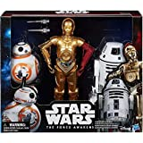 Star Wars Droids 12 Inch Action Figure Pack - C-3PO - BB-8 RO-4LO - Exclusive Force Awakens Collectors Toys