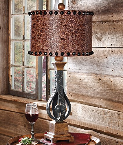 Black Forest Decor Sheridan Western Table Lamp - Rustic Lighting Fixtures