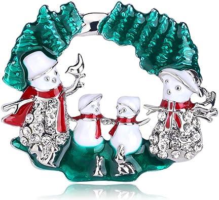 Broche bonhomme de neige de Noël pin/'s de corsage femmes Noël Décor Cadeaux