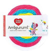 Red Heart Amigurumi - Ovillo de lana, Unicorn, 1, 1
