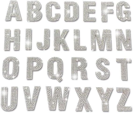 PRATIQUE Glitter Rhinestone Alphabet Letter Stickers