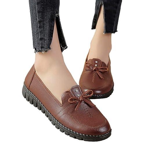 Zapatos de Vestir Plano para Mujer Invierno Primavera PAOLIAN Calzado de Piel Sintético Fiesta Elegantes Tallas Grandes Suave Cómodos Zapatos de Trabajo ...