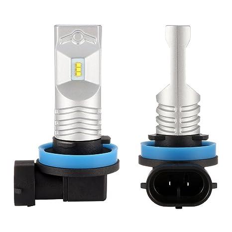 NIGHTEYE H11 LED Bombillas 6500K blanco 80W 1600LM LED lámpara con la viruta del Philips Faro