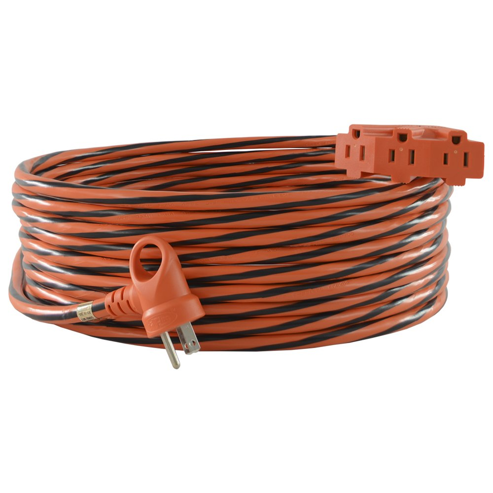 Conntek 24322-600 I-Ring Tri-Outlet Extension Cord 50-Foot 12/3 U.S. I-Ring Male Plug To Three outlet With Light Indicator