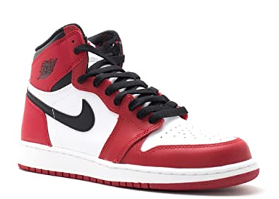 bbbff789f681 Image Unavailable. Image not available for. Colour  Nike Boys  Air Jordan 1  Retro High OG BG Basketball Shoes