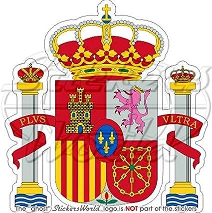 Spanien Spanisch Wappen Abzeichen Wappen Espana 95 Mm 9 7 Cm Vinyl Bumper Aufkleber Aufkleber Garten