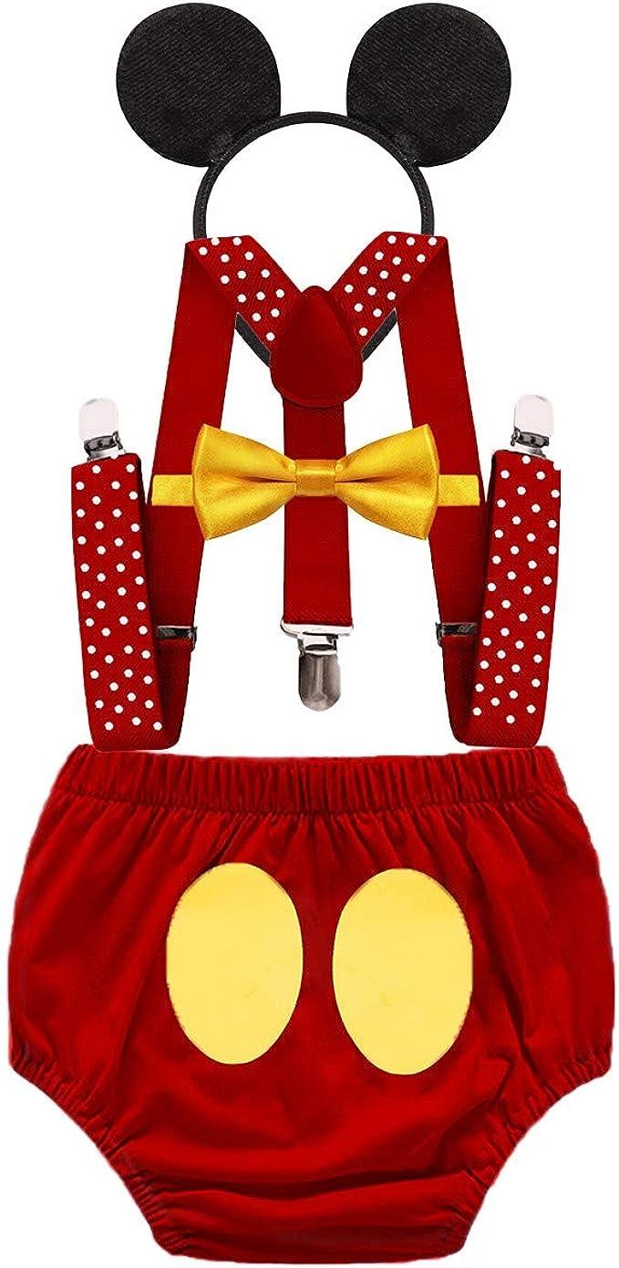 MYRISAM Baby Girls Mickey Minnie Birthday Party Costume Outfit Playwear+Headband