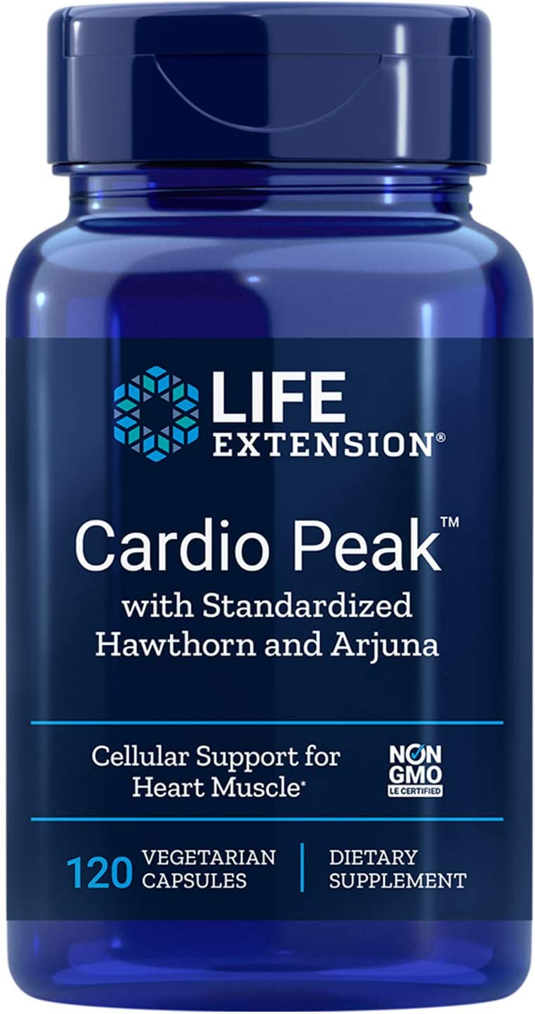 Life Extension - Cardio Peak with Standardized Arjuna & Hawthorn - 120 Vcaps (Pack of 2)