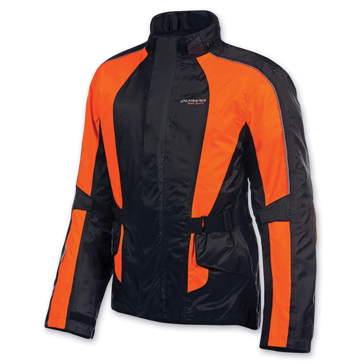 Olympia Moto Sports Unisex Horizon Neon Orange Rain Jacket, XL