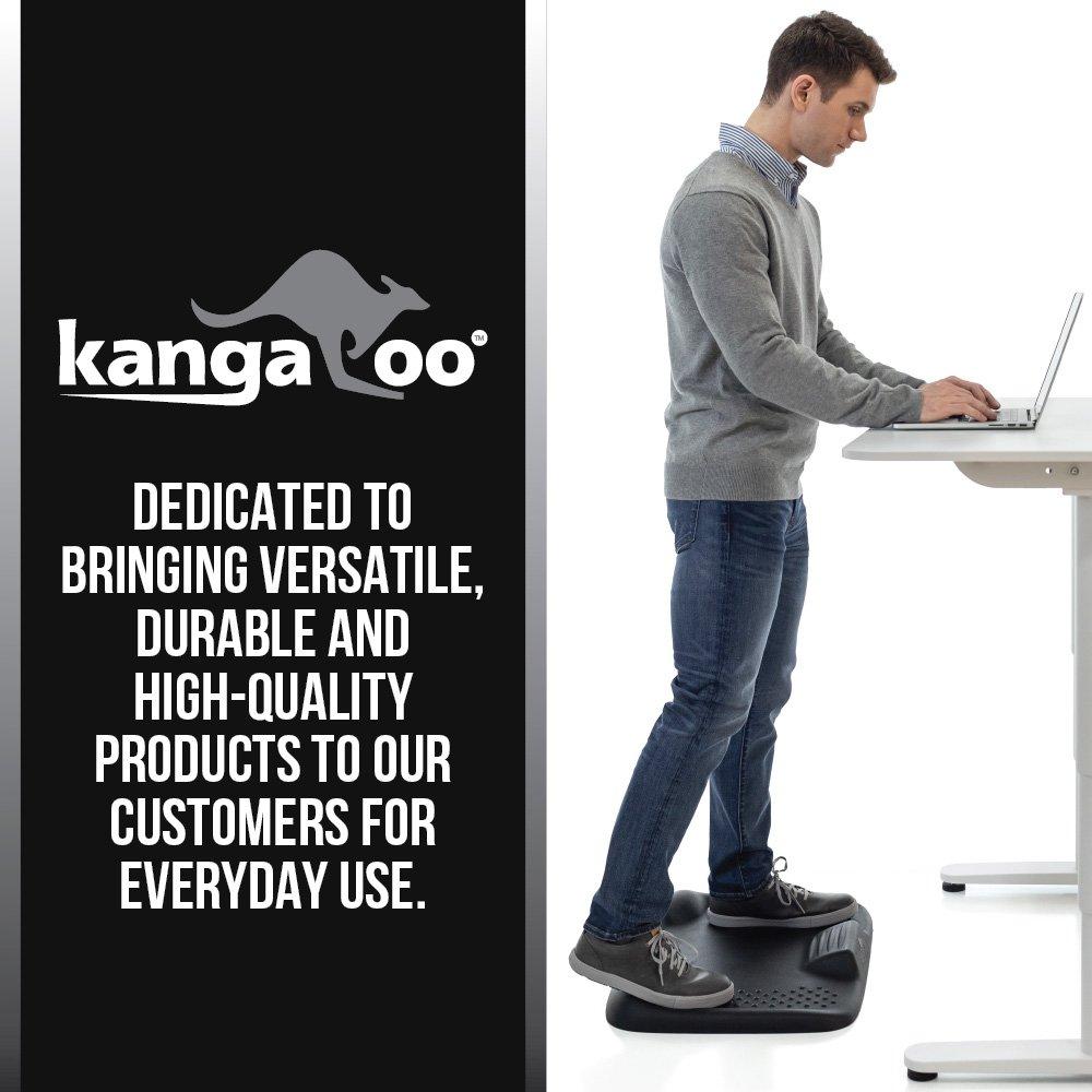 Kangaroo Brands Original Premium Anti-Fatigue Comfort Standing Mat, Not-Flat Ergonomically Engineered Floor Pad, Perfect Active Mats for Kitchen or Office Stand Up Desk, Non-Toxic, Waterproof (Black) by Kangaroo Brands (Image #5)