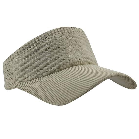 00fe24384df6c Womens Summer Quick-Dry Mesh Empty Top Golf Stretchy Sun Baseball Visor Hat  Cap Beige at Amazon Women s Clothing store