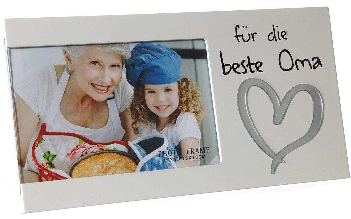 Bada Bing Bilderrahmen Fotorahmen Beste Oma 25 x 13 Herz Liebe Weiß ...