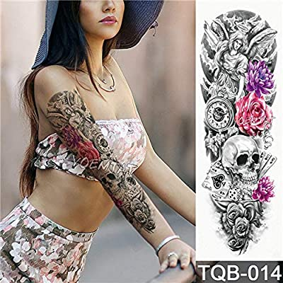 tzxdbh 5pcs Nueva Etiqueta engomada del Tatuaje Flor de Rose del ...