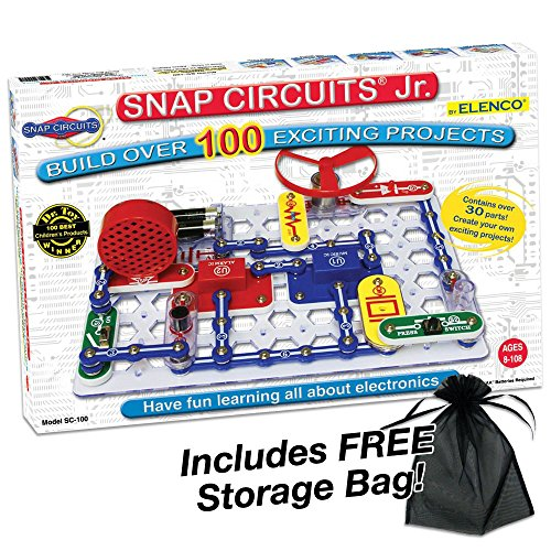 Elenco Electronic Snap Circuits, Jr. Kit with Free Storage Bag (Snap Circuits Jr)