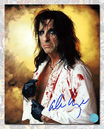 Alice Cooper Autographed Rock Star In Costume 8x10 Photo - Authentic Autographed Autograph -