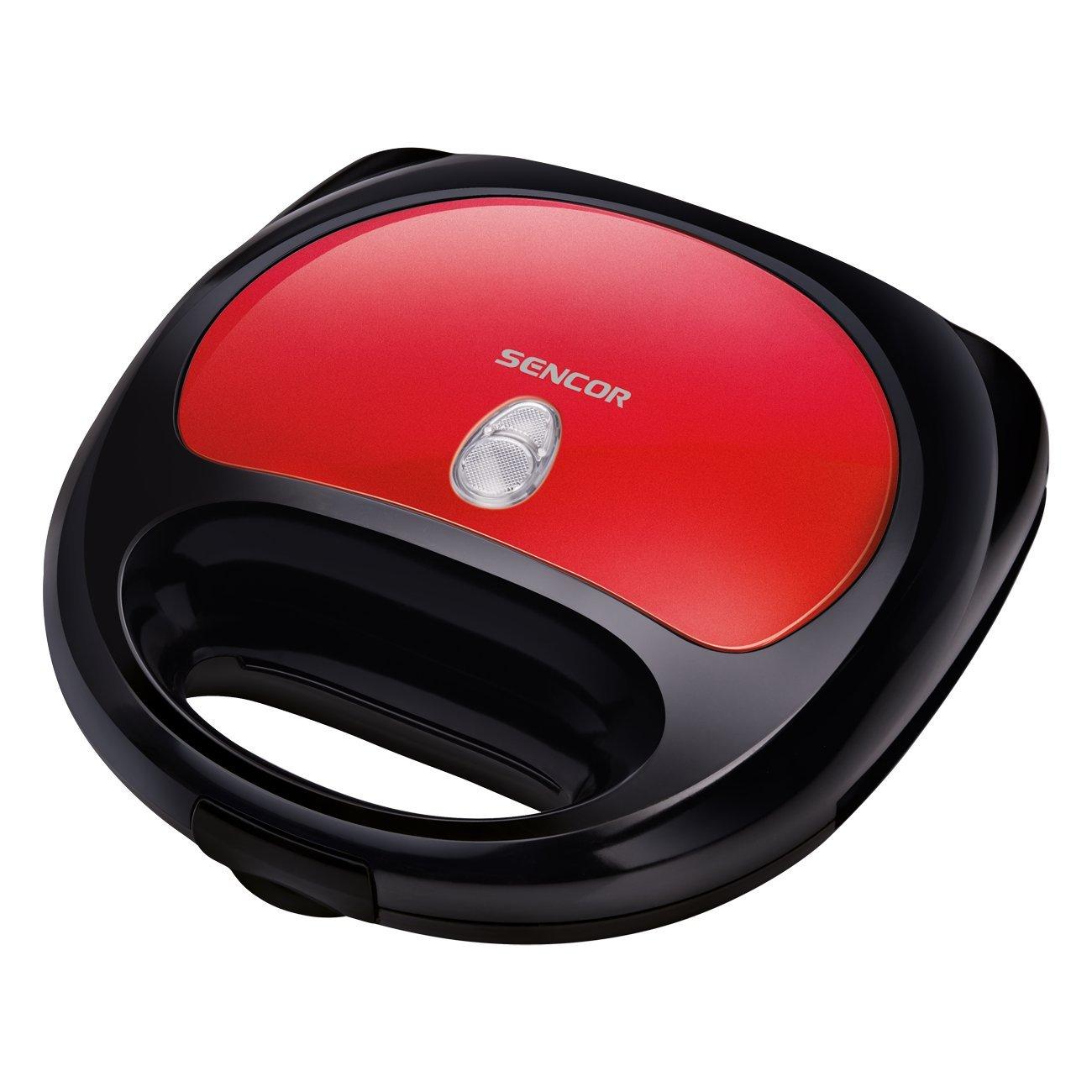 Moulinex SW6125 3-in-1 Snack-Kombigerät Red Ruby Rot-Weiss Grillplatten 700 W