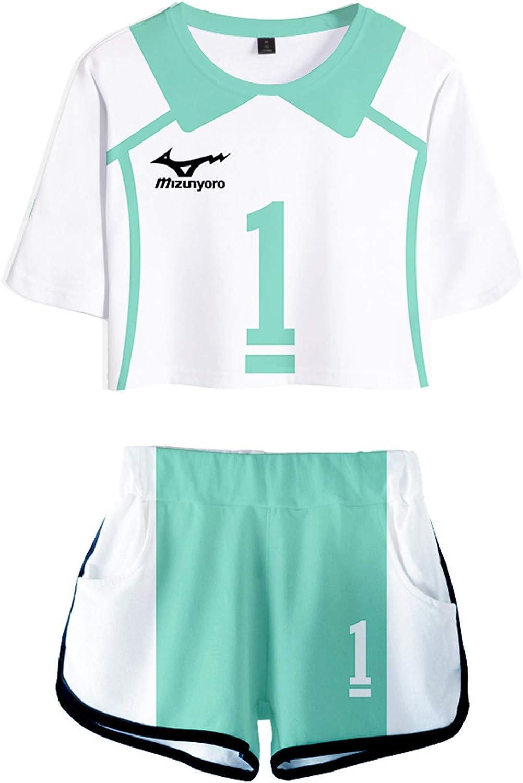 Manga T-Shirt e Shorts Cosplay Volleyball Uniforme Set Haikyuu Abito Sportivo PandaOne Basic Haikyuu!
