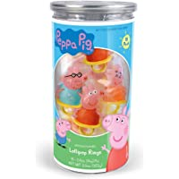 Peppa Pig Lollipop Rings Birthday Party Favors - 18-Pack Tub