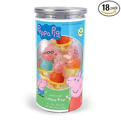 Peppa Pig Lollipop - Anillos de fiesta de cumpleaños – 18 ...