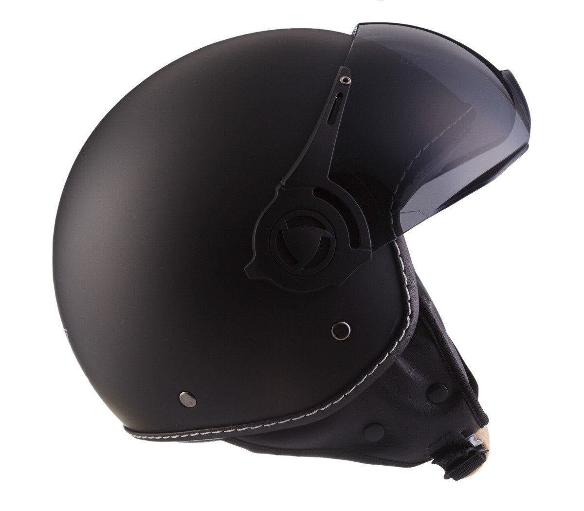MOTO H44 Vintage Creme /· Vintage Pilot Moto-Helmet Jet-Helmet Biker Scooter-Helmet Mofa Chopper Cruiser Retro Bobber Vespa-Helmet /· ECE certified /· incl 61-62cm Cloth Bag /· Beige /· XL Sun Visor /· incl