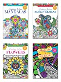 B-THERE Adult Coloring Books - Set of 4 Coloring Books, Over 125 Different Designs Combined! Mandala Coloring Books for Adults with Detailed Flower Designs Printed on Heavy Paper.
