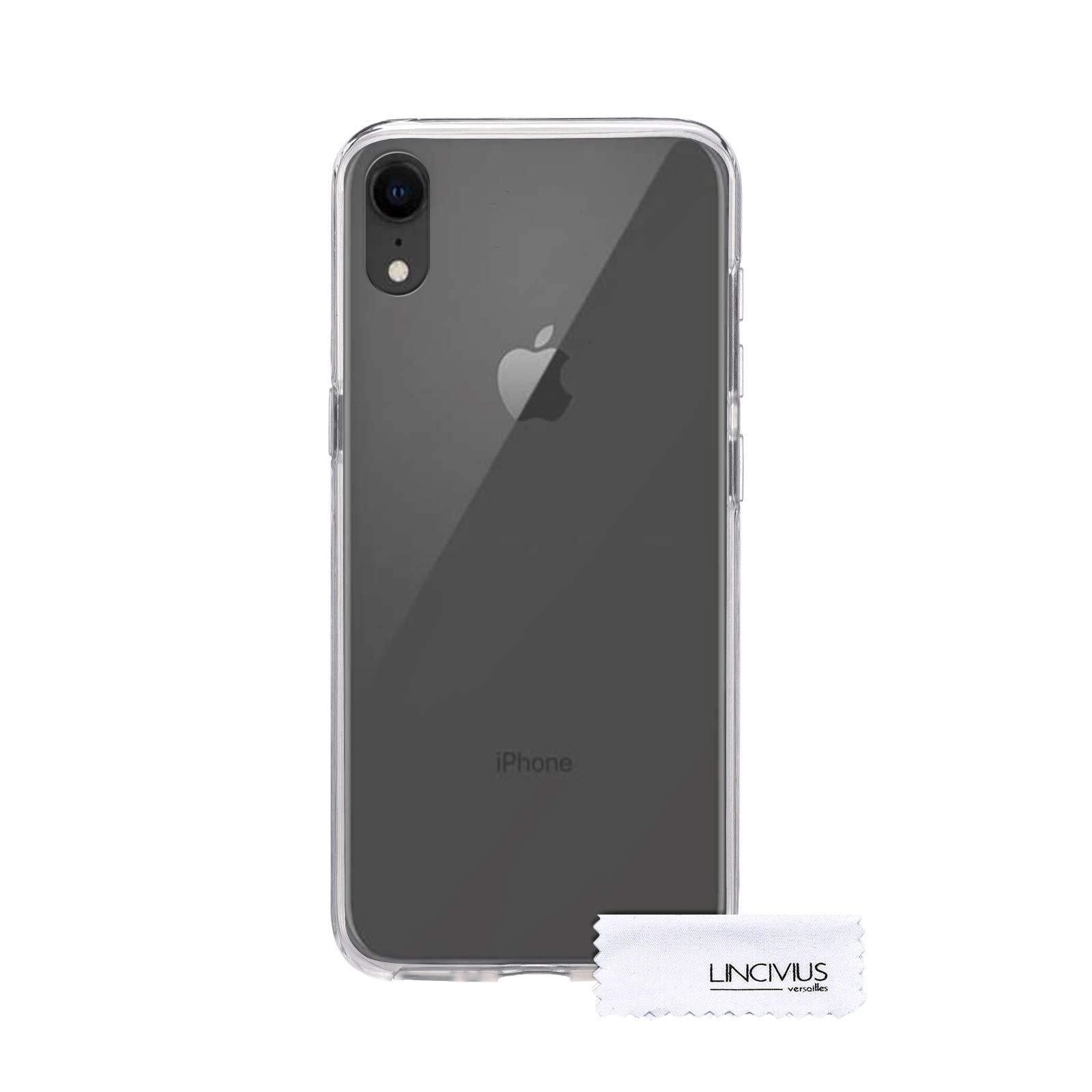 Coque Apple iPhone XR Integrale, Coque TRANSPARENTE Apple iPhone XR Integrale Protection 2 en 1 BUMPER Transparent Silicone Avant Et Arrière Contour Bumper Rigide - [30 Jours Satisfait Ou Remboursé]